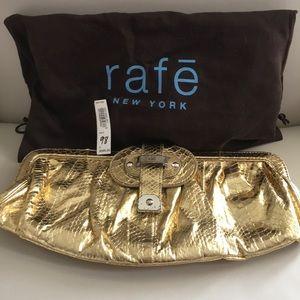 Rafe gold clutch